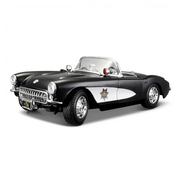 1:18 Maisto Chevrolet Corvette Police 1957 Model Araba