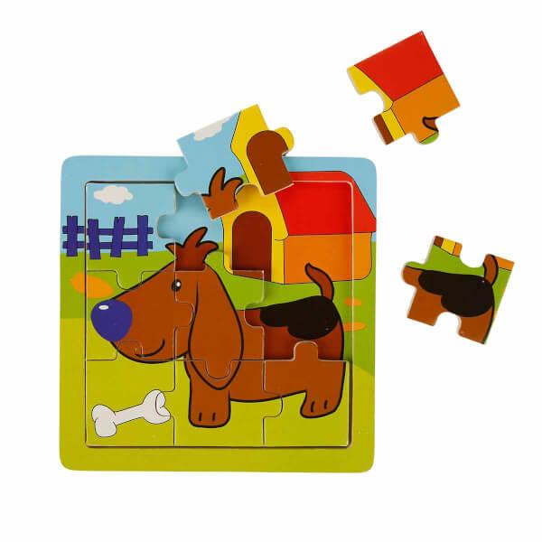 Woody Sevimli Hayvanlar Ahşap Puzzle 9 Parça