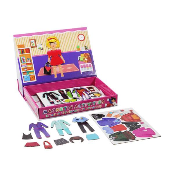 Manyetik Kız Çocuk Kıyafet Giydirme Oyun Seti 56 Parça