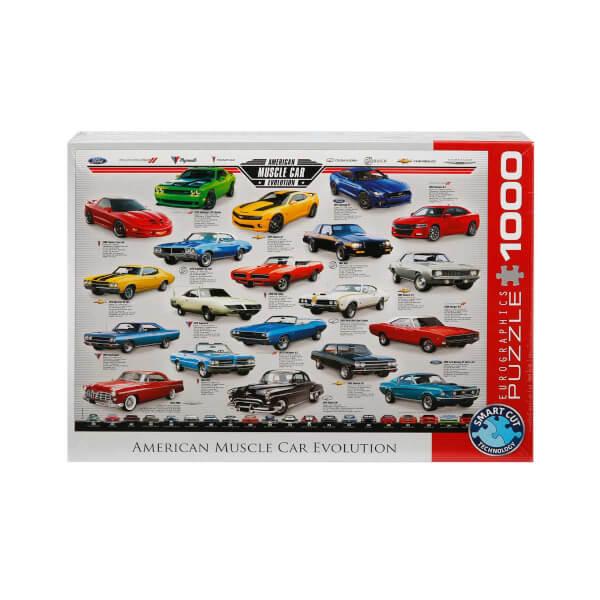 1000 Parça Puzzle : American Muscle Car Evolution