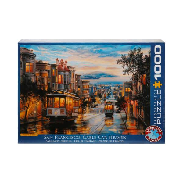 1000 Parça Puzzle : San Francisco - Eugene Lushpin