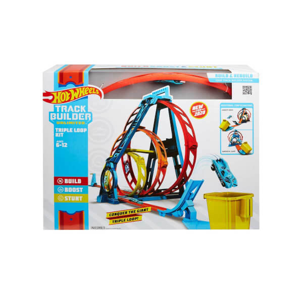Hot Wheels Track Builder Üçlü Çember Aksiyonu Seti GLC96