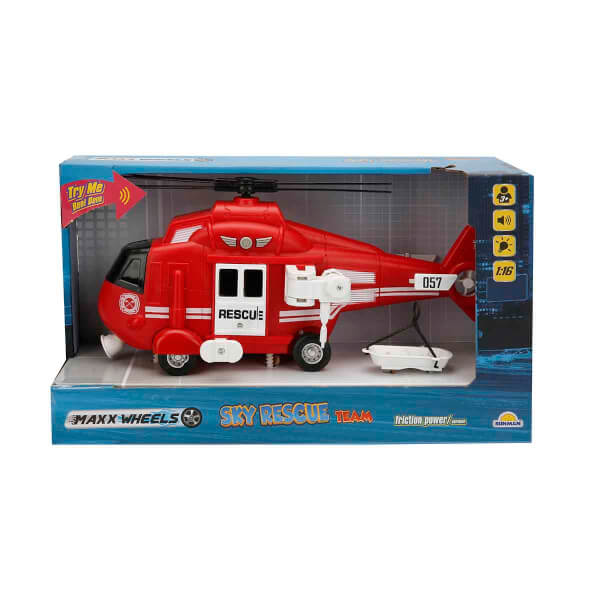 Maxx Wheels 1:16 Sesli ve Işıklı Helikopter