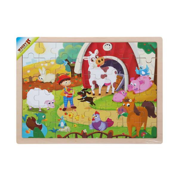 Woody Ahşap Puzzle Çiftlik Hayvanları 48 Parça
