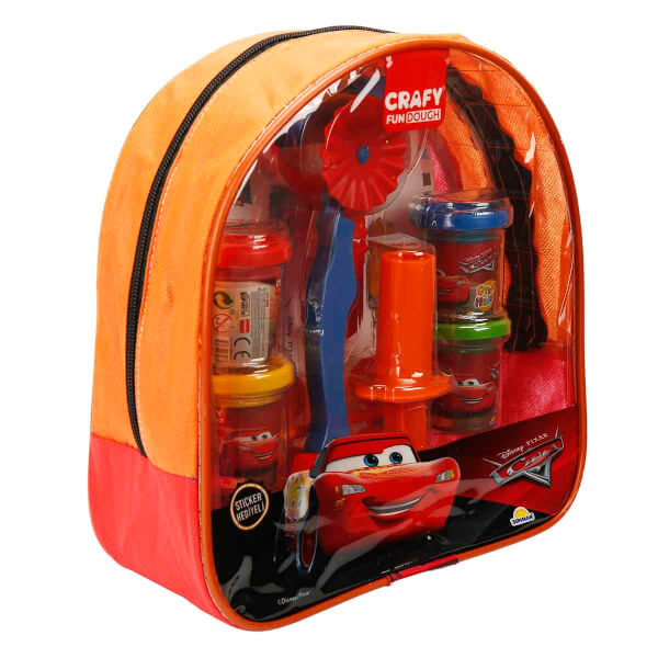 Crafy Cars Sırt Çantalı Oyun Hamuru Seti 200 gr. 18 Parça