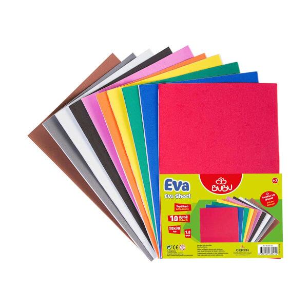 BuBu Eva Yapışkanlı A4 10 Renk