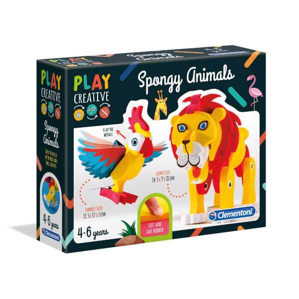 Clementoni Play Creative Sünger Hayvanlar