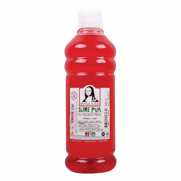 Sıvı Yapıştırıcı Slime Jeli Fosforlu Kırmızı 500 ml