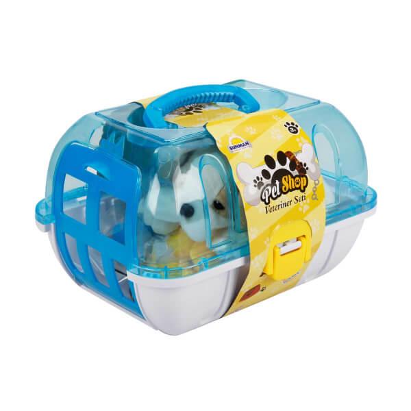 Çantalı Peluş Köpek Veteriner Seti