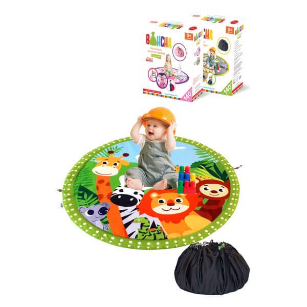 Bluuh Baby Bohcha Sevimli Hayvanlar Oyun Halısı Yeşil