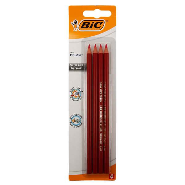 Bic Evolution Kırmızı Kopya Kalemi 4'lü