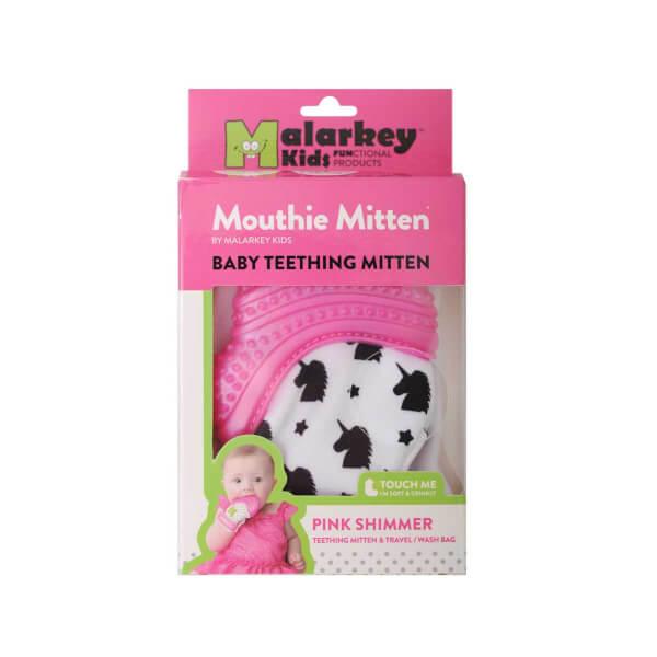 Mouthie Mitten Diş Kaşıyıcı Unicorn Desenli Pembe Eldiven