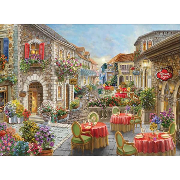 1000 Parça Puzzle : Çiçekli Kafeler Sokağı