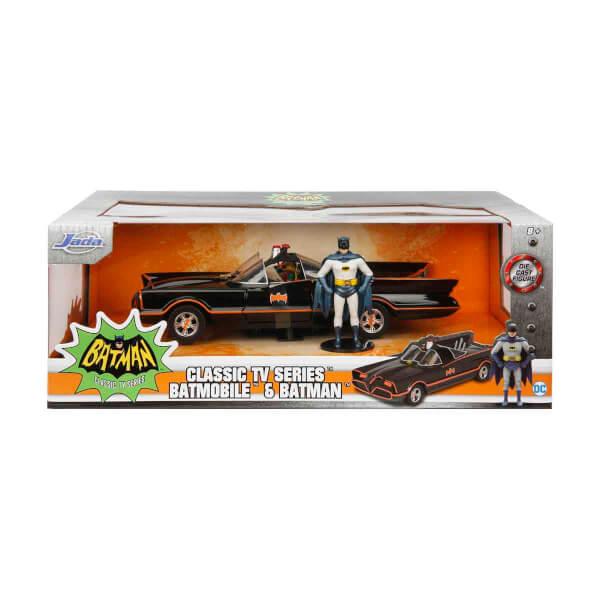 1:24 Batman Classic Tv Serisi 1996 Metal Batmobile ve Mini Figür (Batman ve Robin)