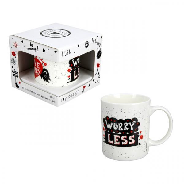 Love More Worry Less Porselen Kupa