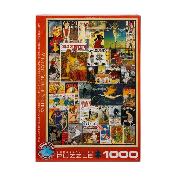 1000 Parça Puzzle : Vintage Bicycle Posters