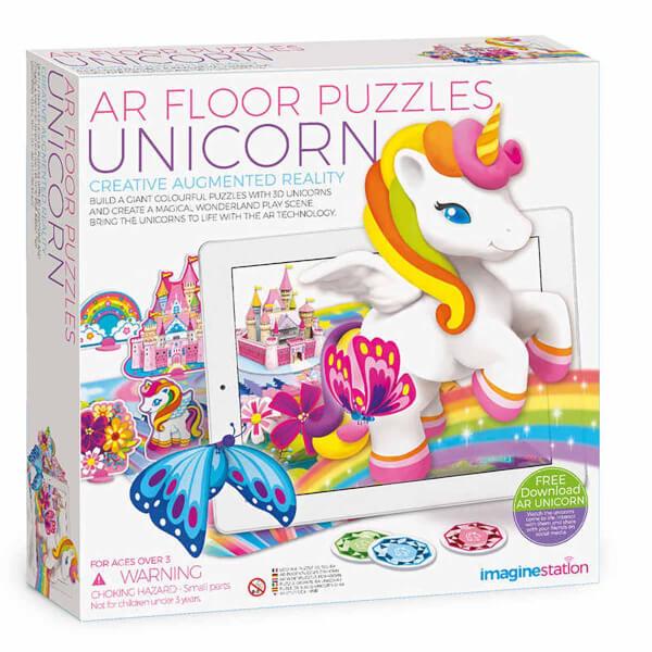 AR Floor Puzzles Unicorn Arttırılmış Gerçeklik Puzzle