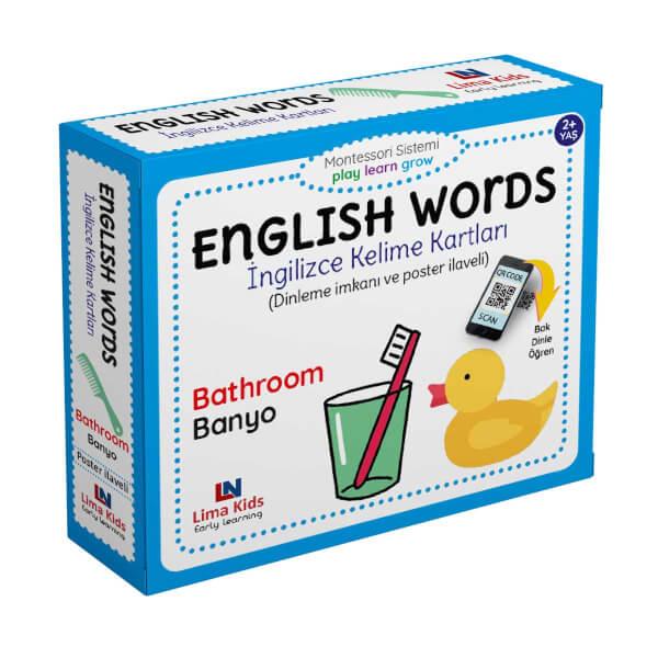 English Words İngilizce Kelime Kartları Banyo
