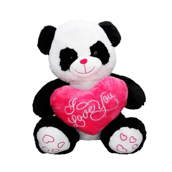 Kalpli Panda Peluş 50 cm.