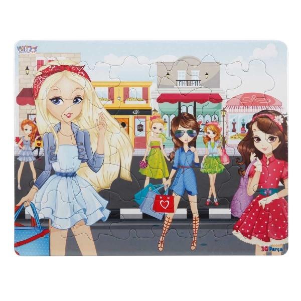 30 Parça Puzzle : Stil Kızlar
