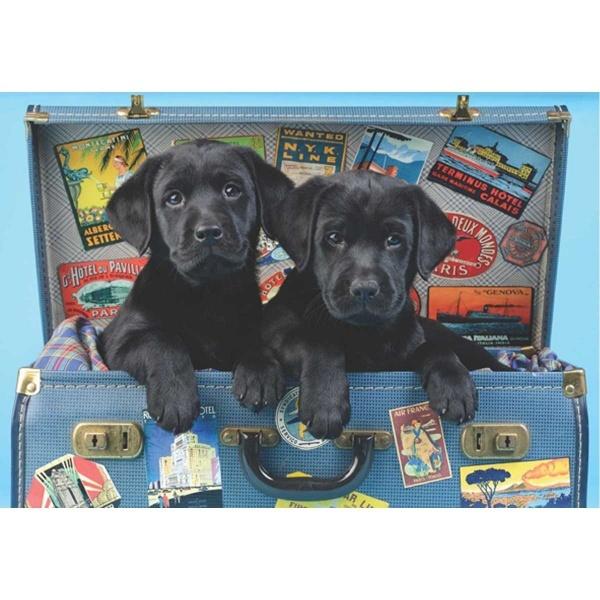 500 Parça Puzzle : Gezgin Köpekler