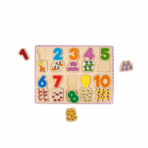 Bul ve Tak Ahşap Puzzle Rakamlar