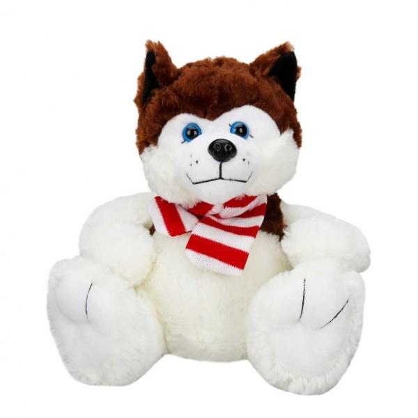 Oturan Husky Atkılı Peluş Köpek 30 cm.