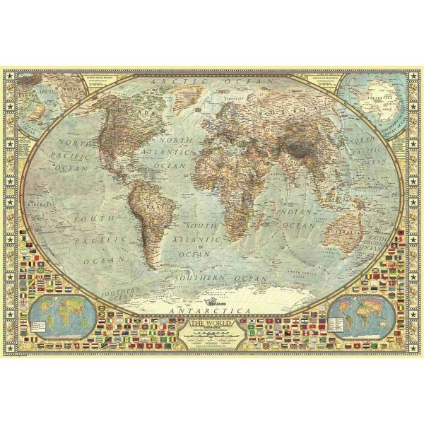 2000 Parça Puzzle : Dünya Haritası