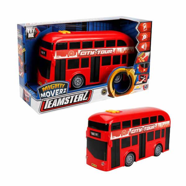 Teamsterz Sesli ve Işıklı Çift Katlı Otobüs 27 cm.