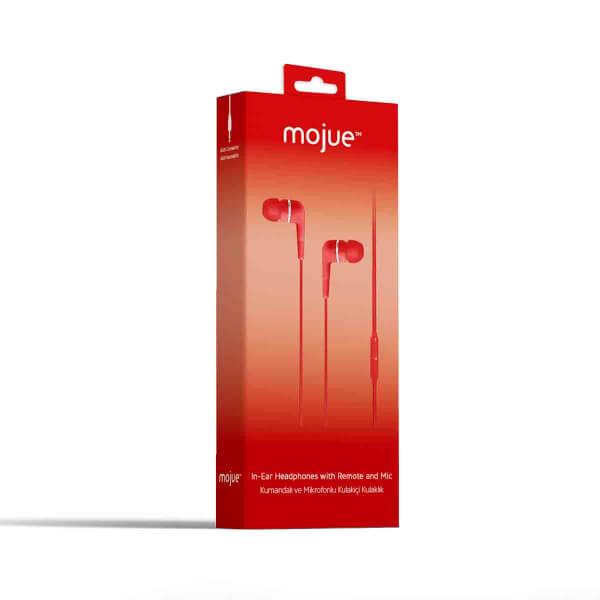 Mojue WE01 Kumandalı ve Mikrofonlu Kulak İçi Kulaklık Kırmızı