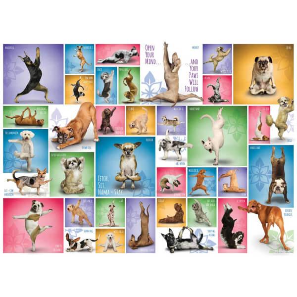 1000 Parça Puzzle : Yoga Dogs