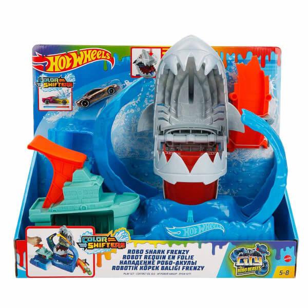 Hot Wheels Renk Değiştiren Robotik Köpek Balığı Oyun Seti GJL12