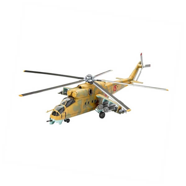 Revell 1:100 Mil Mi-24D Hind Helikopter 4951
