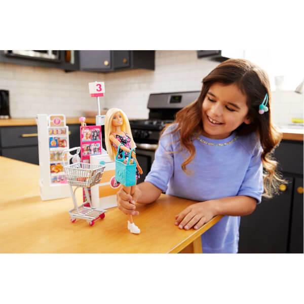 Barbie Süpermarkette Oyun Seti FRP01