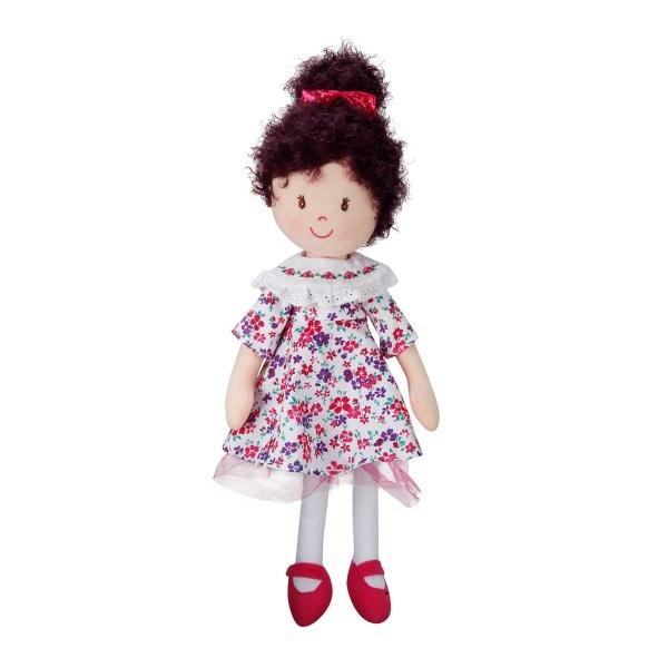Çiçekli Elbiseli Topuzlu Ece Bebek 50 cm.