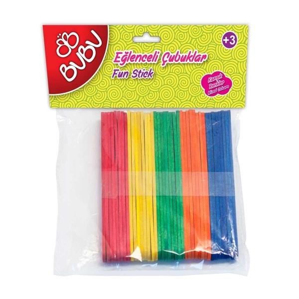 BuBu Renkli Eğlenceli Kısa Çubuklar 40'lı