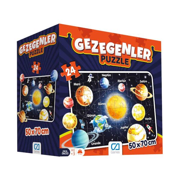 24 Parça Puzzle : Gezegenler