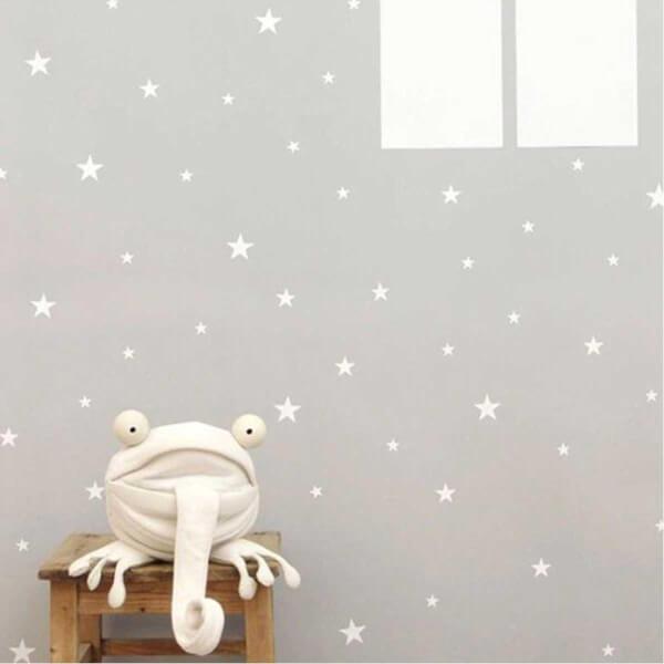 BugyBagy Beyaz Duvar Sticker Yıldız Yağmuru 200 Adet