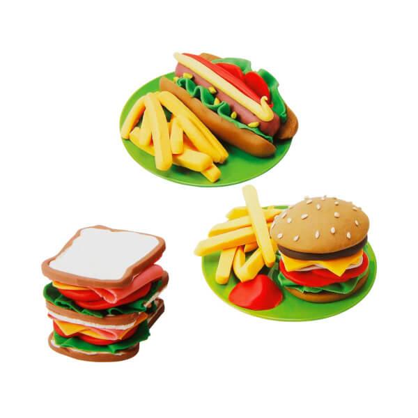 Arabalı Hamburger Yapımı Oyun Hamur Seti