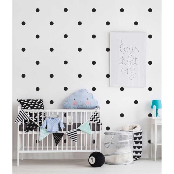 BugyBagy Siyah Yuvarlak Duvar Sticker Polska Dots Büyük 100 Adet 5 cm.