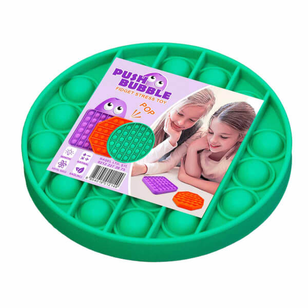 Push Pop Bubble Pop It Duyusal Oyuncak Özel Pop Stres Yuvarlak Yeşil 0611
