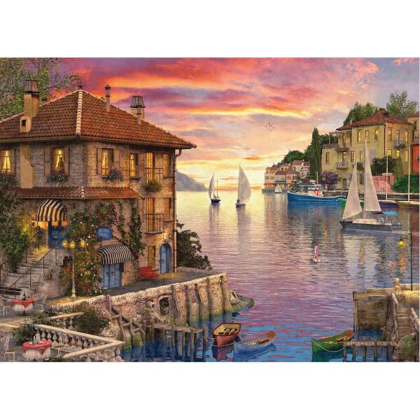 1000 Parça Puzzle : Mediterranean Harbour - Dominic Davidson