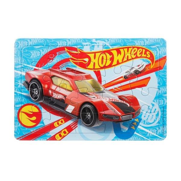 20 Parça Puzzle : Hot Wheels Kırmızı Araba