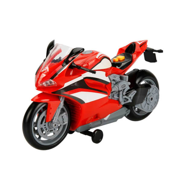 Teamsterz Sesli ve Işıklı Kırmızı Motosiklet 27 cm.