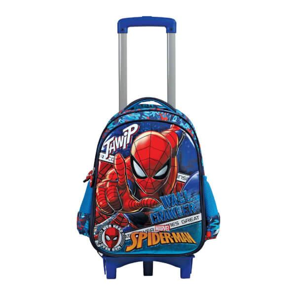 Spiderman Çekçekli Okul Çantası 5269