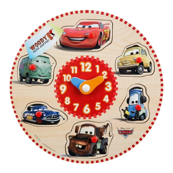 Cars Ahşap Bultak Tutmalı Saat