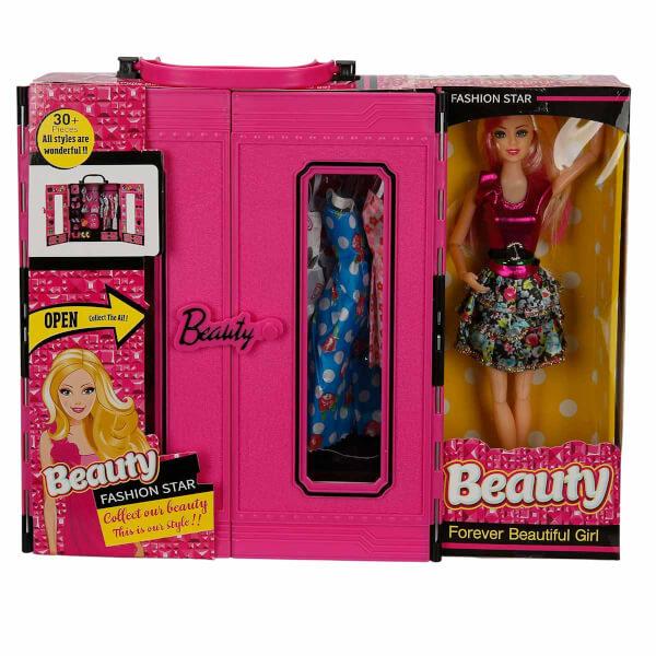 Beauty Fashion Star Bebeğim ve Çantalı Elbise Gardrobu