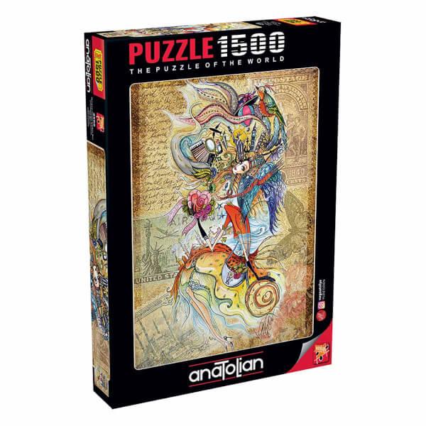 1500 Parça Puzzle : Dünyayı Gezen Çerkes Kızı