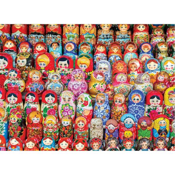 1000 Parça Puzzle : Russian Matryoshkas Dolls