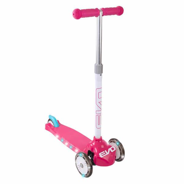 Evo Işıklı 3 Tekerlekli Pembe Scooter